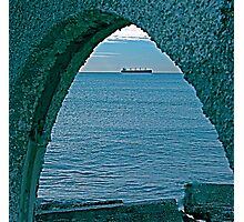Freighter through Arch Photographic Print