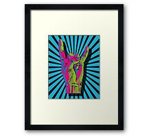 METAL HORNS Framed Print
