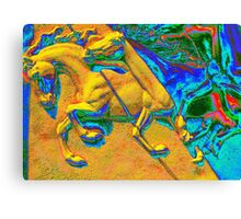 Chevaux Jaunes Canvas Print