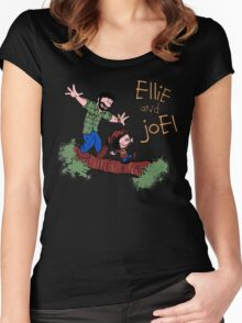 Joel And Ellie Calvin And Hobbes Women's Fitted Scoop T-Shirt