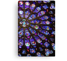 Colours of Stain Glass Canvas Print