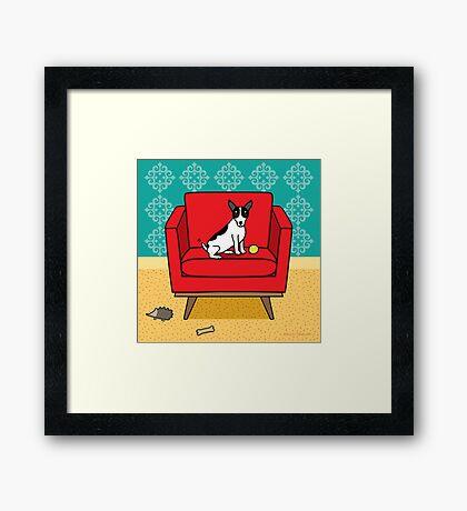 Rat Terrier Square Framed Print