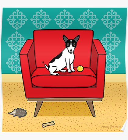 Rat Terrier Square Poster