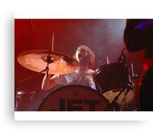Jet Drummer Chris Cester Canvas Print