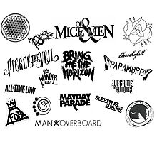 Awesome Bands Photographic Print