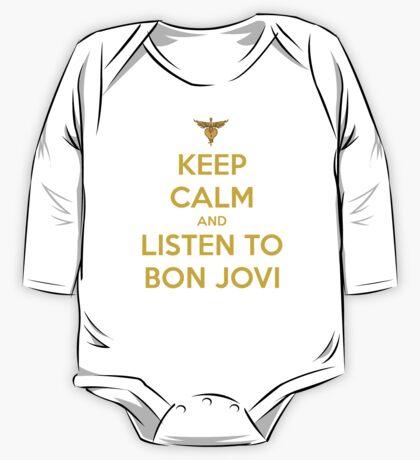 Keep Calm And Listen To Bon Jovi One Piece - Long Sleeve
