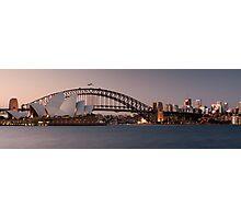 Sydney Opera House & Harbour Bridge Panorama Photographic Print