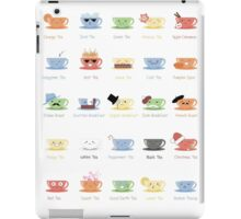 Tea Chart iPad Case/Skin