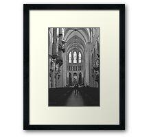 Looking up in Awe Framed Print