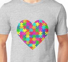 Autism awareness heart Unisex T-Shirt