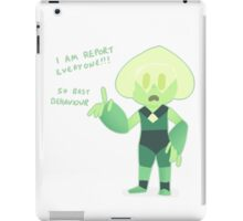 Peridot Will Report! iPad Case/Skin