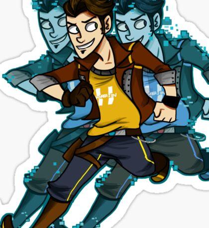 handsome jack doppelganger sticker   Sticker