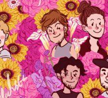 Boys and flower Sticker