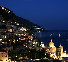 Positano nightfall by Neil Osborne