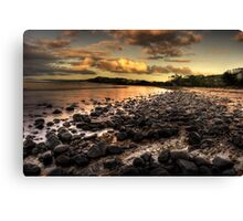 Saltwater beach Canvas Print