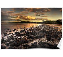 Saltwater beach Poster