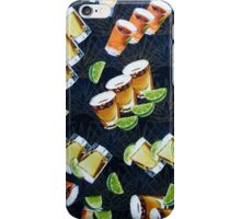 Tequila Shots and Lime Wedges Pattern iPhone Case/Skin