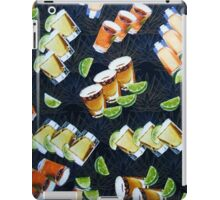 Tequila Shots and Lime Wedges Pattern iPad Case/Skin