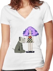 Crystal Tipps and Alistair Women's Fitted V-Neck T-Shirt