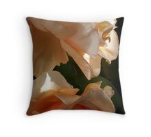 brandy backlit Throw Pillow