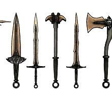 Skyrim - Dragonbone Weapons [no background] by sansasnark