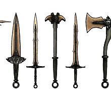 Skyrim - Dragonbone Weapons [no background] by sansasnark