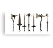 Skyrim - Dragonbone Weapons [no background] Metal Print