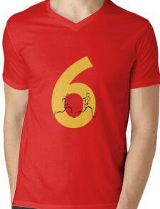 Running Through The Six Mens V-Neck T-Shirt