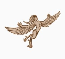 Harpy Flying Front Etching by patrimonio