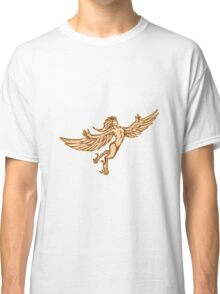 Harpy Flying Front Etching Classic T-Shirt