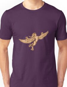 Harpy Flying Front Etching Unisex T-Shirt