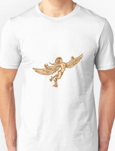 Harpy Flying Front Etching T-Shirt