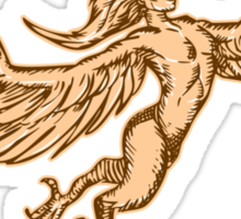 Harpy Flying Front Etching Sticker