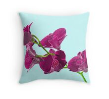 Orchid: Purple Dendrobium Throw Pillow
