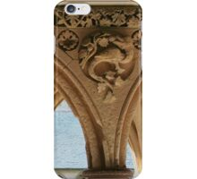 Cloister detail, Mont St Michel iPhone Case/Skin