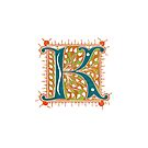 Letter K ornamental decorative by coralZ