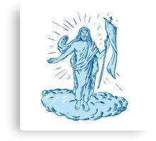 Jesus Christ Resurrection Etching Canvas Print