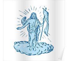 Jesus Christ Resurrection Etching Poster