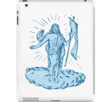 Jesus Christ Resurrection Etching iPad Case/Skin
