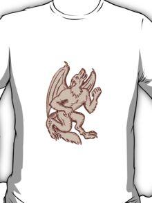 Kludde Black Dog Howling Etching T-Shirt