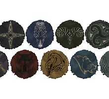Capital Seals of Skyrim by sansasnark