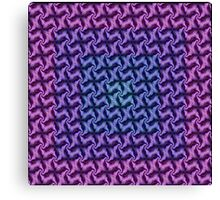 Fractal Fusion - In Aqua, Lilac and Pink Canvas Print