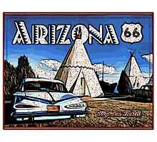 Wigwam Motel Route 66 Photographic Print