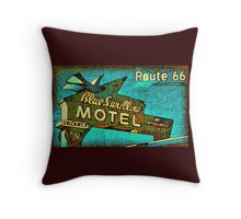 Motel Sign Route 66 Throw Pillow