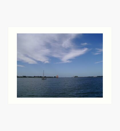 Sailing On The Harbour Art Print