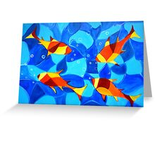 Joy Fish -Abstract painting Greeting Card