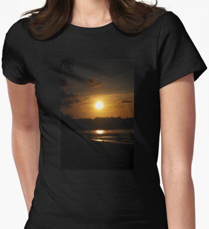 Sunset Haze Womens Fitted T-Shirt