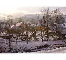 Village in Eastern Carpathians Photographic Print