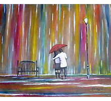 Love in the Rain Photographic Print