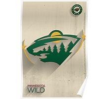 Minnesota Wild Minimalist Print Poster